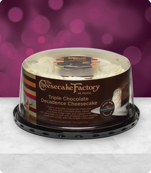 Triple Chocolate Decadence Cheesecake made with Ghirardelli®
