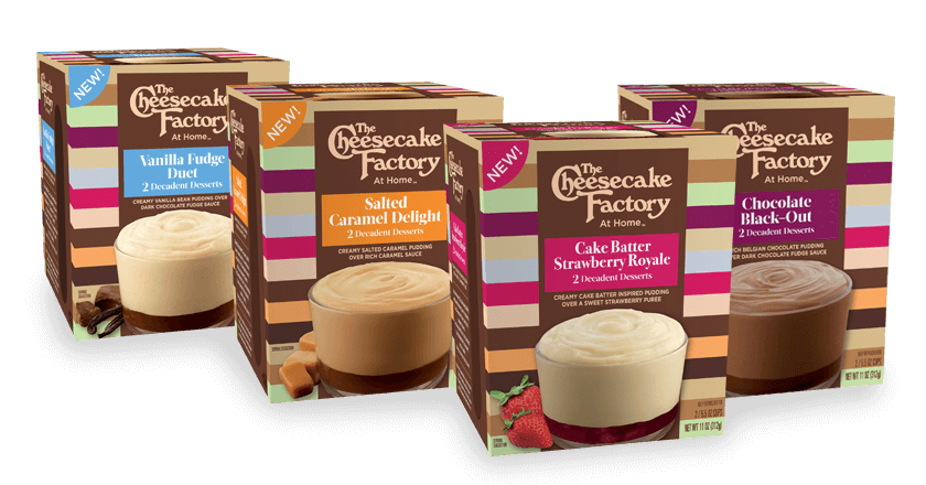 The Cheesecake Factory At Home Decadent Desserts Premium Layered Puddings